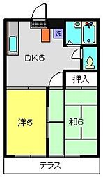 神奈川県横浜市旭区金が谷1丁目の賃貸マンションの間取り