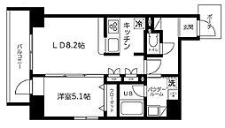 東京都台東区三筋1丁目の賃貸マンションの間取り