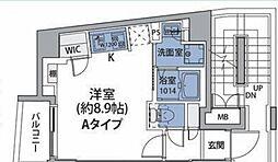 JR中央線 中野駅 徒歩8分の賃貸マンション 3階ワンルームの間取り