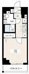 京成本線 千住大橋駅 徒歩3分の賃貸マンション 5階1Kの間取り