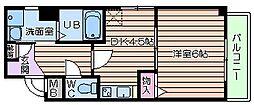 リバーライズ寺田町[2階]の間取り