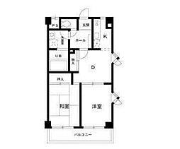 エーデルワイスたまプラーザ2階Fの間取り画像