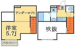 千葉県千葉市中央区鵜の森町の賃貸アパートの間取り