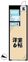 東京都多摩市中沢2丁目の賃貸マンションの間取り
