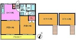 千葉県浦安市東野2丁目の賃貸アパートの間取り