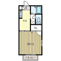 ドルフ花垣[A101号室]の間取り