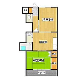 ペアシティマンションNo.2[2階]の間取り