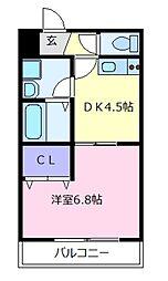 大阪府羽曳野市高鷲5丁目の賃貸アパートの間取り