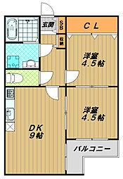 サンコート須磨[3階]の間取り