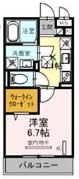 JR京浜東北・根岸線 大宮駅 徒歩21分の賃貸アパート 1階1Kの間取り