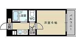 ボネールTAKIGAWA[4階]の間取り