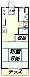 東京都八王子市散田町1の賃貸アパートの間取り