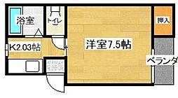 第二堺コーポ[203号室]の間取り