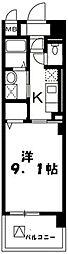 小田急小田原線 鶴川駅 徒歩13分の賃貸マンション 3階1Kの間取り