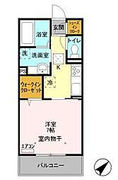 東京メトロ東西線 妙典駅 徒歩10分の賃貸アパート 1階1Kの間取り