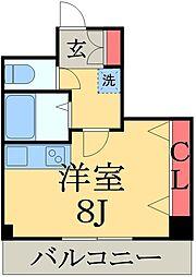 千葉県千葉市中央区南町2丁目の賃貸マンションの間取り