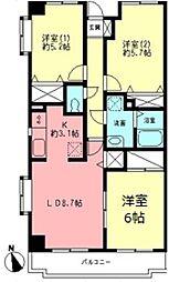 コンフォール生田[1階]の間取り