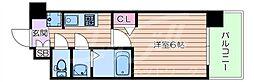 阪急千里線 豊津駅 徒歩12分の賃貸マンション 5階1Kの間取り
