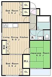 クリオ町田[3階]の間取り