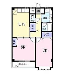 神奈川県川崎市麻生区細山8丁目の賃貸マンションの間取り