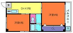 兵庫県神戸市灘区高徳町3丁目の賃貸マンションの間取り