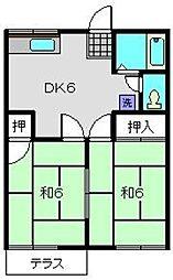 グリーンハイツB[1階]の間取り