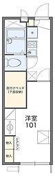 JR常磐線 我孫子駅 徒歩7分の賃貸アパート 1階1Kの間取り
