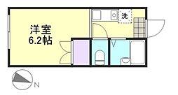 岡山県倉敷市新倉敷駅前5の賃貸アパートの間取り