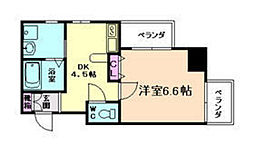 大阪府大阪市福島区鷺洲4丁目の賃貸マンションの間取り