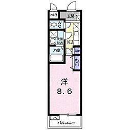 東京都練馬区平和台2丁目の賃貸マンションの間取り