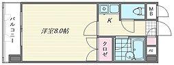 キャンパスシティ箱崎[411号室]の間取り