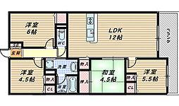 ソルプラーサ堺[2階]の間取り