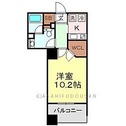 パークアクシス元浅草ステージ[14階]の間取り