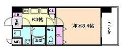 グランカーサ梅田北[8階]の間取り