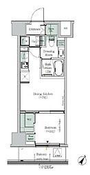 One ROOF Residence KIBA EAST 2階1DKの間取り