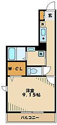 多摩市豊ヶ丘1丁目新築PJ 2階1Kの間取り