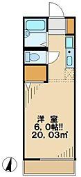 東京都日野市平山3の賃貸アパートの間取り