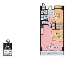 大阪府大阪市平野区平野南3丁目の賃貸マンションの間取り