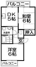レジデンスピュア・ハイツニートネス[2階]の間取り