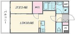 イーストフルハウス[306号室]の間取り