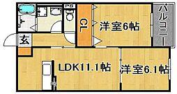 (仮)多々良IIアパート[302号室]の間取り