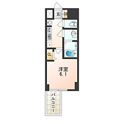 ファステート大阪ドームライズ[11階]の間取り