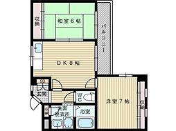 マンションシャルム[3階]の間取り