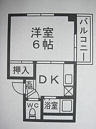 シャインハイツ大濠[4階]の間取り