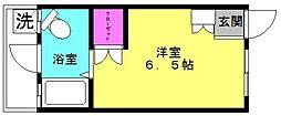 レジデンス魚住[7号室]の間取り