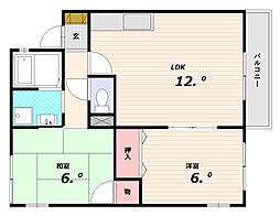 ベルドミール[1階]の間取り