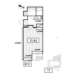 Art Terrace HATSUDAI[-1階]の間取り