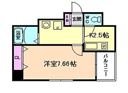 ROYAL COURT[9階]の間取り