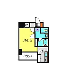 JR京浜東北・根岸線 川崎駅 バス12分 浜町三丁目下車 徒歩1分の賃貸マンション 6階1Kの間取り