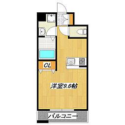パインタワー[604号室]の間取り